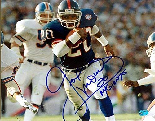 Signed Joe Morris Photo - Super Bowl Champion Image #1 Size 8x10 - Autographed NFL Photos
