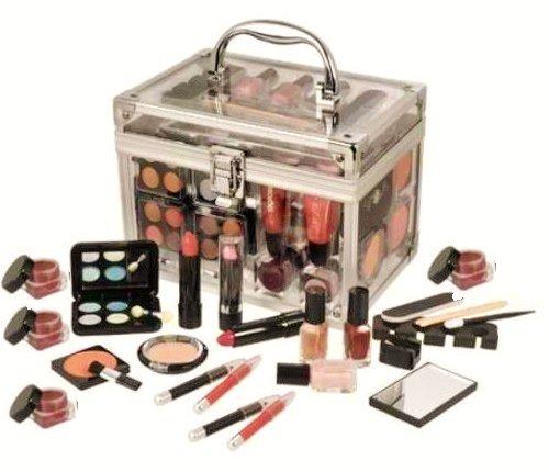 Effectuer SHANY Tous Trunk Kit professionnel de maquillage - Fard à paupières, pédicure, manucure - Set de cadeau