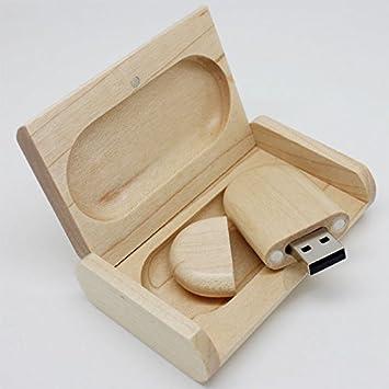 USB de Madera con Caja Pendrive Memoria USB BP291 (8GB, Natural ...