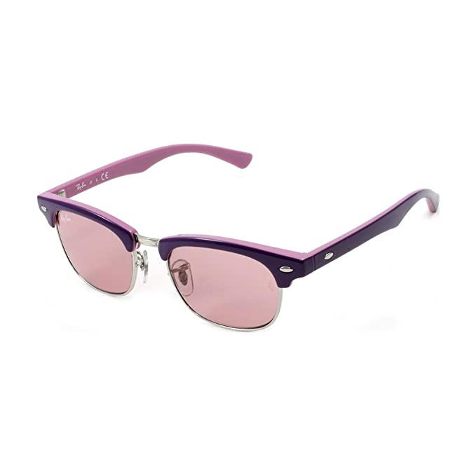 c0b672f909f Ray-Ban Junior Kids Sunglasses - RJ9050S Clubmaster   Frame  Top Violet on  Pink Lens  Pink Mirror Silver Gradient  Amazon.ca  Clothing   Accessories