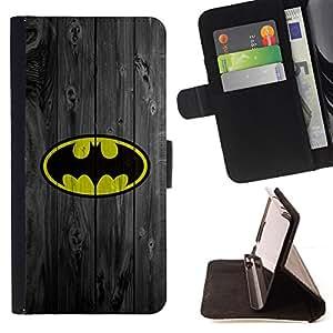 - Superhero Bat Wood Retro Vintage/ Personalizada del estilo del dise???¡¯???¡Ào de la PU Caso de encargo del cuero del tir???¡¯????n del s - Cao - For Sa