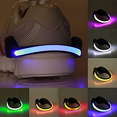 Efanr 1PCS LED Safety Shoes Clip Light Reflective Flash Night Running Gear Lights for Running Jogging Walking Spinning or Biking Lighting Strobe and Steady Color Flash Mode