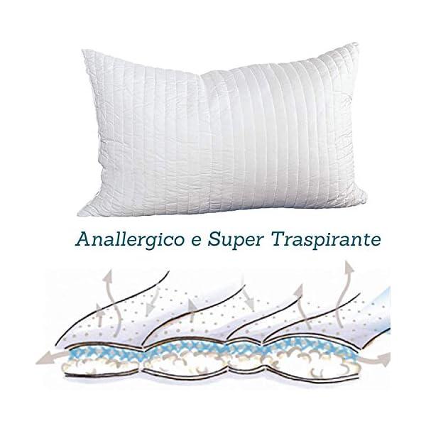 EVERGREENWEB Materasso Singolo 80x190 in Waterfoam Alto 20cm con Cuscino Memory Foam Ortopedico, Rivestimento Bianco… 7 spesavip