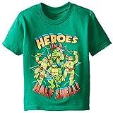 Teenage Mutant Ninja Turtles Little Boys' Toddler Group T-Shirt, Kelly Green, 3T