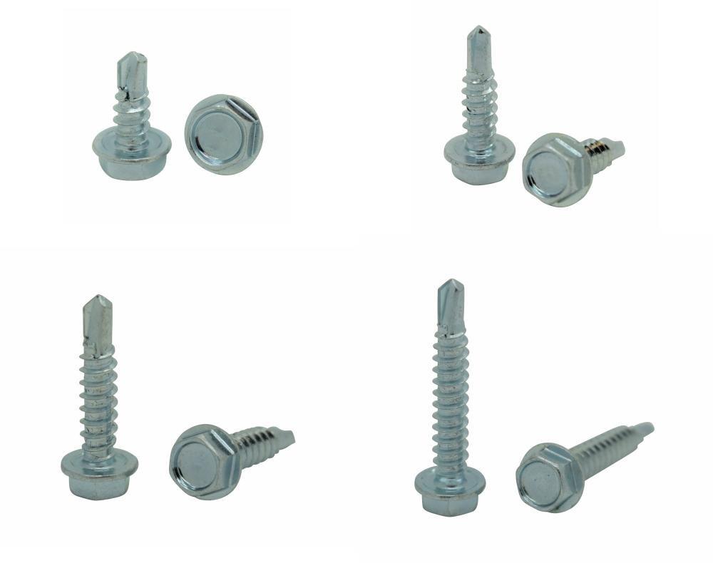 BCP110 400 Qty Assorted #8 Zinc Hex Washer Head TEK Self Drilling Sheet Metal Screws