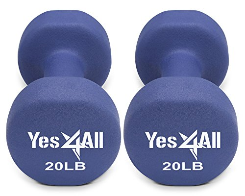 Neoprene dumbbells set of 1-pair: 20 lbs (40 lbs total) - ²BAAAZ