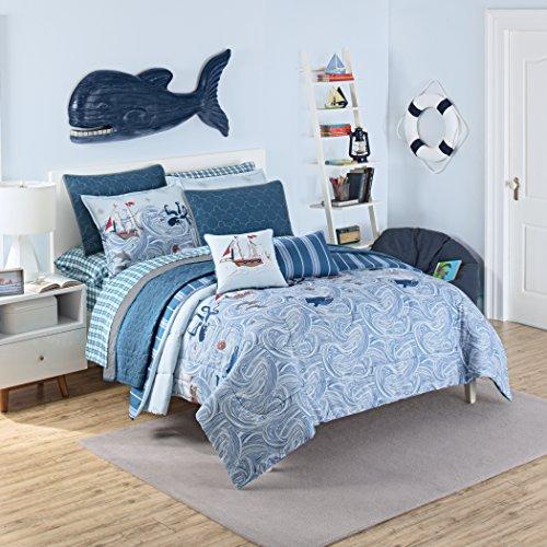 Waverly Kids Ride The Waves Pirate Comforter Set, Aqua