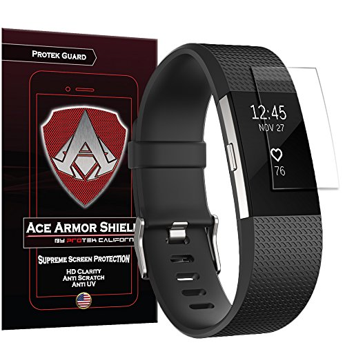 Ace Armor Shield Protek Screen Protector for Fitbit Charge 2, (6 Pack)