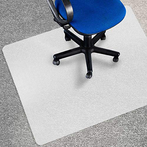 Chair Mat for Carpets | Low / Medium Pile Computer Chair Floor Protector for Office and Home | Opaque, Studded | Polypropylene | 30''x48'' by Office Marshal
