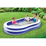 Play Day 103' Transparent Inflatable Quick and Easy Set Up Durable and Fun Family Pool