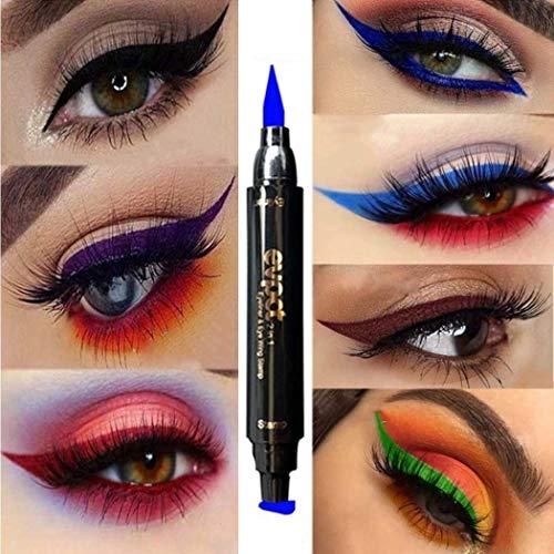 Edanta Matte Eyeliner Highly Pigmented Eyeshadow Makeup Colorful Eye shadow Long Lasting Sparkling Eyeliner for Christmas Parties Cosplay Masquerade Pack of 1 (Blue 5#)