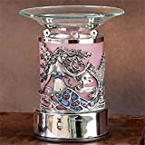 StealStreet SS-A-59695 Electric Oil Burner with Pewter Art Deco Mermaid and Lavender Saucer
