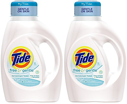 - Tide Liquid Laundry Detergent Free Gentle 32 Load, 50 Ounce (Pack of 2)