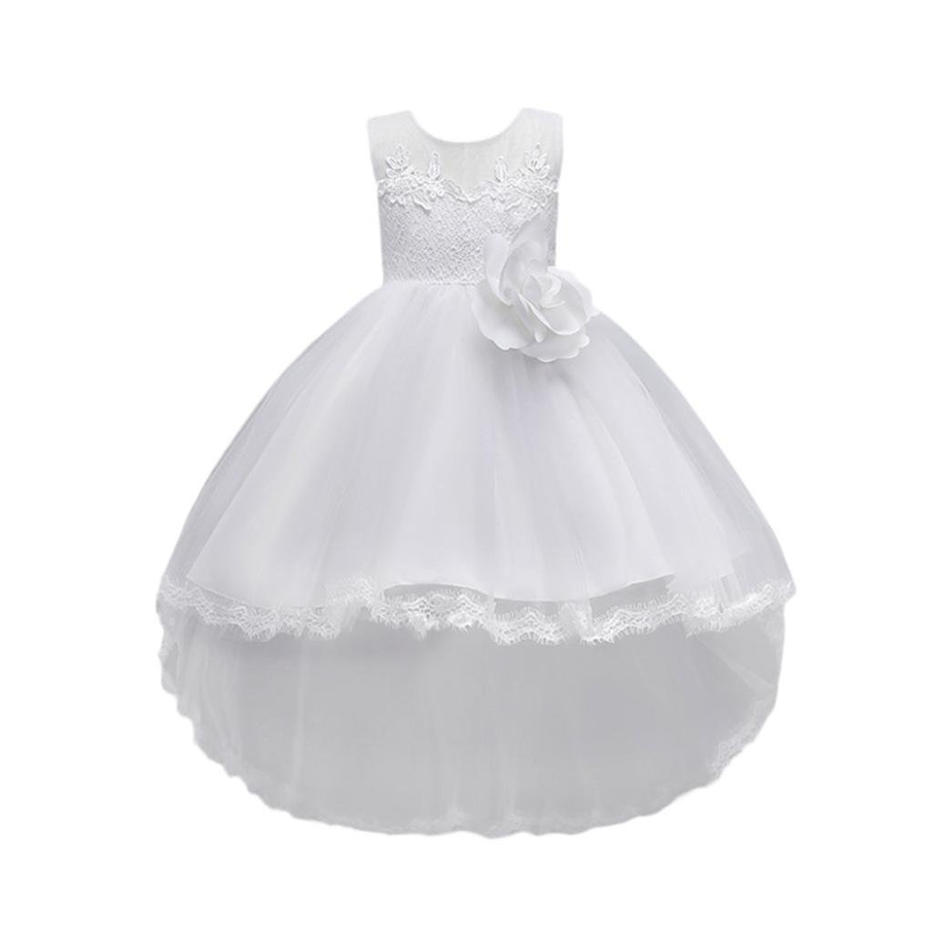 SMALLE◕‿◕ Clearance,Floral Baby Girl Princess Bridesmaid Pageant Gown Birthday Party Wedding Dress
