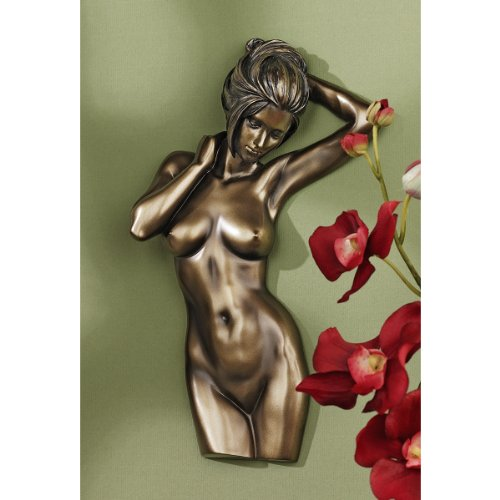 Madonna Sculpture - Nude Madonna Female Bronze Wall Sculpture Statue Figurine