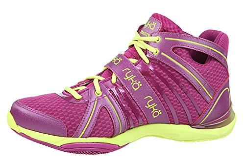RYKA Women's Tenacity Dance Training Sneaker (8 B(M) US, Pink/Pink/Lime)