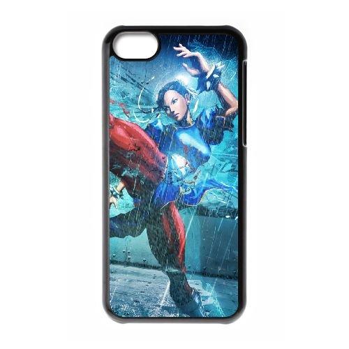 Street Fighter X Tekken Girl Chun Li Legs Fighter Muscle coque iPhone 5c cellulaire cas coque de téléphone cas téléphone cellulaire noir couvercle EEECBCAAN04175