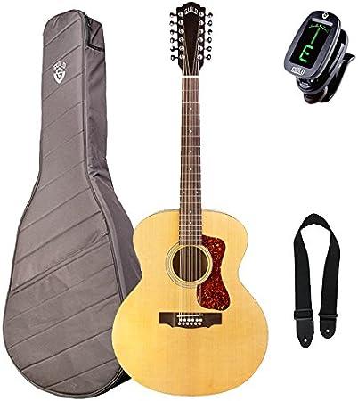 Hermandad f-2512e Westerly Jumbo acústica guitarra eléctrica, arce Rubio (con funda y Kit de accesorios: Amazon.es: Instrumentos musicales