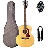 Guild F-2512E Westerly Jumbo 12-String Acoustic-Electric Guitar with Deluxe Gig