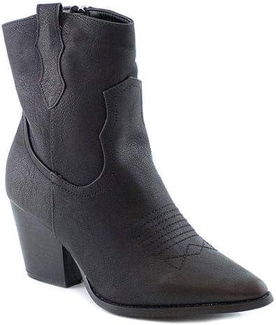 Botin Cowboy Mujer Negro/Marron – PAYMA: Amazon.es: Zapatos y ...