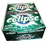 Eclipse Spearmint Gum, 12-12 Piece Packs -(144 Pieces Per Box!)
