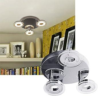 HG® 18W LED Proyectores de techo Lámpara giratoria de 3 llamas ...