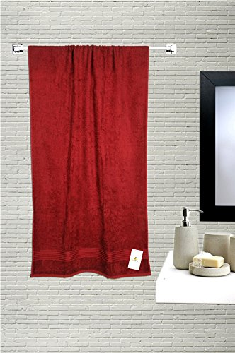 HomeStrap Classic Medium Bath Towel - Maroon - 1 Pc