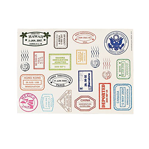 Passport Stamp Sticker Sheets Stickers