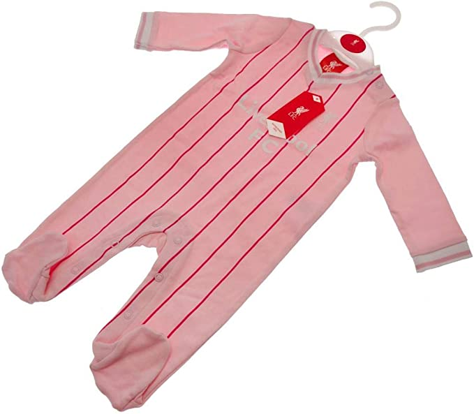 12-18 Brecrest Liverpool FC Baby Kit Pink Sleepsuit LFC Official