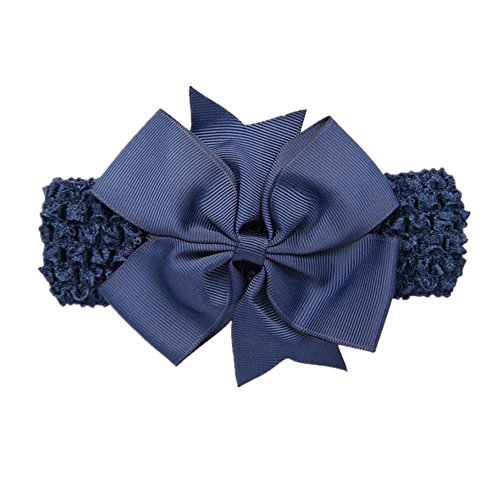 Lurryly Infant Girls Bowknot Headbands Wave Cute Hair Band Hair Accessories For Girls ()