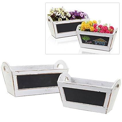 2 Pc White Vintage Wood Nesting Shelf Baskets / Shabby Chic Organizer  Storage Crates W/