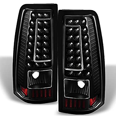 For 99-02 Chevy Silverado 09-03 GMC Sierra Pickup Truck Black G2 LED Tail Lights Brake Lamps Replacement: Automotive