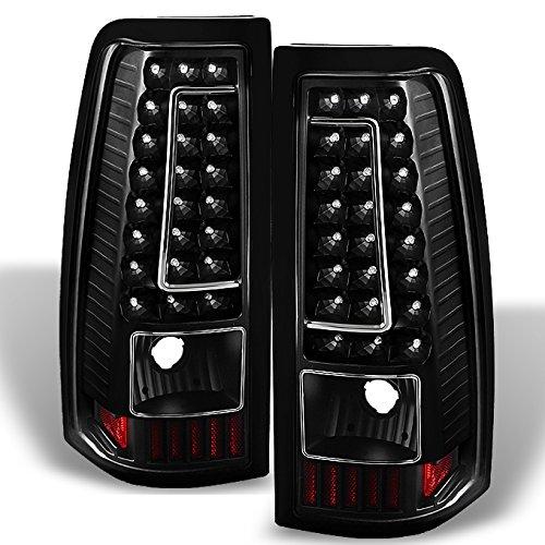 99-02 Chevy Silverado 09-03 GMC Sierra Pickup Truck Black G2 LED Tail Lights Brake Lamps (03 Chevy Truck)