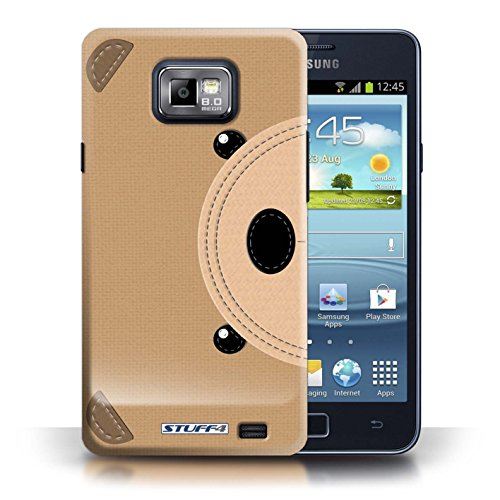 Coque de Stuff4 / Coque pour Samsung Galaxy S2/SII / Ours Design / Cousu des Animaux Effet Collection