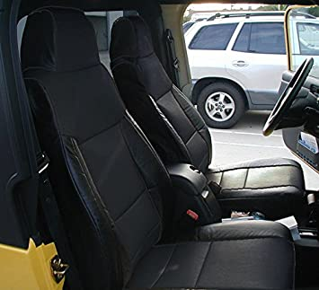 Phenomenal Iggee Jeep Wrangler 2003 2006 Black Artificial Leather Custom Made Original Fit Front And Rear Seat Cover Gamerscity Chair Design For Home Gamerscityorg