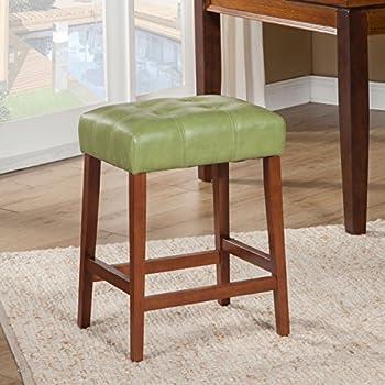 Amazon Com Kinfine Leatherette Square Tufted Counter
