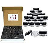 (Quantity: 300 Pieces) Beauticom 10G/10ML Round Clear Jars with Black Lids for Jams, Honey, Cooking Oils, Herbs and Spices - BPA Free
