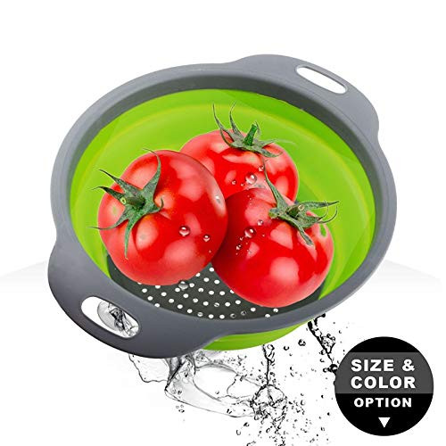 (Basket Strainer - 2pcs Set Collapsible Colander Round Shaped Foldable Fruit Vegetable Storage Washing Basket Strainer - Assembly Replacement Stainless Repair Drain Tool Removal Gasket Fla)