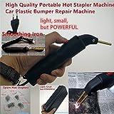 Professional Hot Stapler Plastic Repair System Welding Gun Bumper Fairing Auto Body Tool Plastic Welder Staple Soldering Iron (PlasticWelderANT-Pack B(Pack A & Smooth Iron))