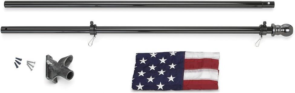 3x5 USA American /& State of North Carolina Flag Aluminum Pole Kit Ball Top 3/'x5/'