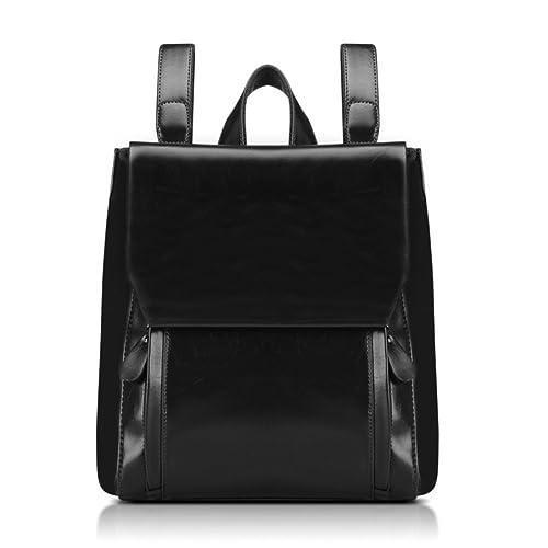 c37aad0ee58 HOBOP JHB700025C2 Fashion Genuine Leather College Wind Women s Handbag,Square  Cross-Section Backpack