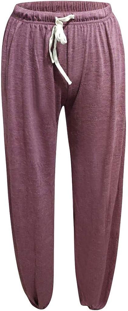 UOFOCO Summer Solid Color Trousers Sweatpants Women Yoga Pants Home Pants