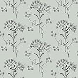 York Wallcoverings ME1517 Magnolia Home Vol. II Wildflower Wedding Band (Blue)/Black
