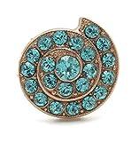 Mariana Swarovski Crystal Rose Gold Plated Adjustable Ring Aqua Shell Mosaic 1079 Serengetti