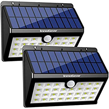 InnoGear Upgraded Solar Lights 30 LED Wall Light Outdoor Security Lighting Nightlight with Motion Sensor Detector  sc 1 st  Amazon.com & InnoGear Upgraded Solar Lights 30 LED Wall Light Outdoor Security ...