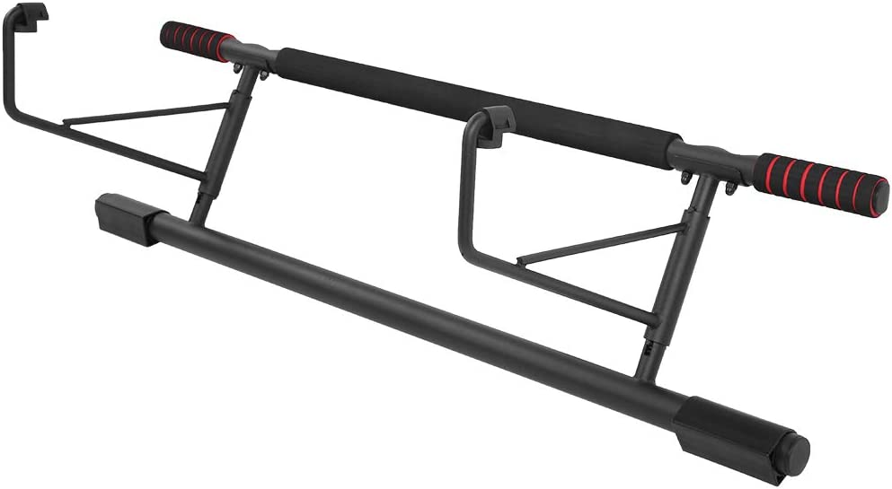 POCREATION Straight Pull Up Bar Doorway, Chin up Bar no Screws, Heavy Duty Trainer for Home Gym Exercise no Need to Installation and Disassembly