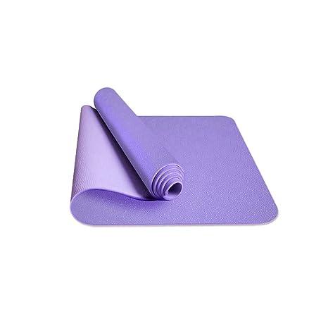 XLHJFDI Estera de Yoga de Doble Cara Estera de Yoga de TPE ...