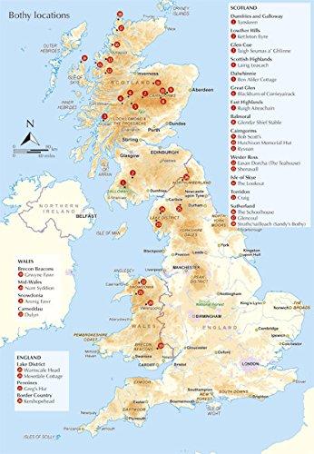 Scottish Bothy Map The Book of the Bothy: Phoebe Smith (Wr: 9781852847562: Amazon. Scottish Bothy Map