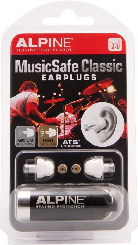 Alpine Hearing Protection MusicSafe Classic Earplugs for ...