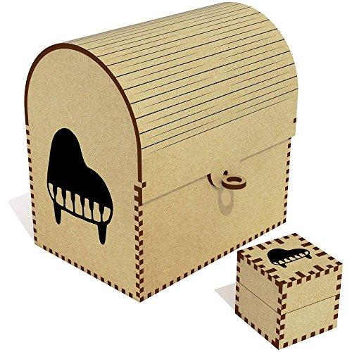 - Azeeda 'Grand Piano' Treasure Chest / Jewellery Box (TC00027531)